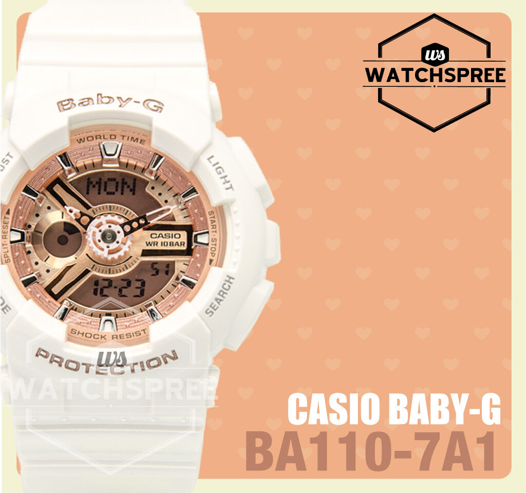 Casio Baby G Layered 3d Metallic Face Watch Ba110 7a1 9260 Ba 110sn 3a 1 Of 4only 0 Available