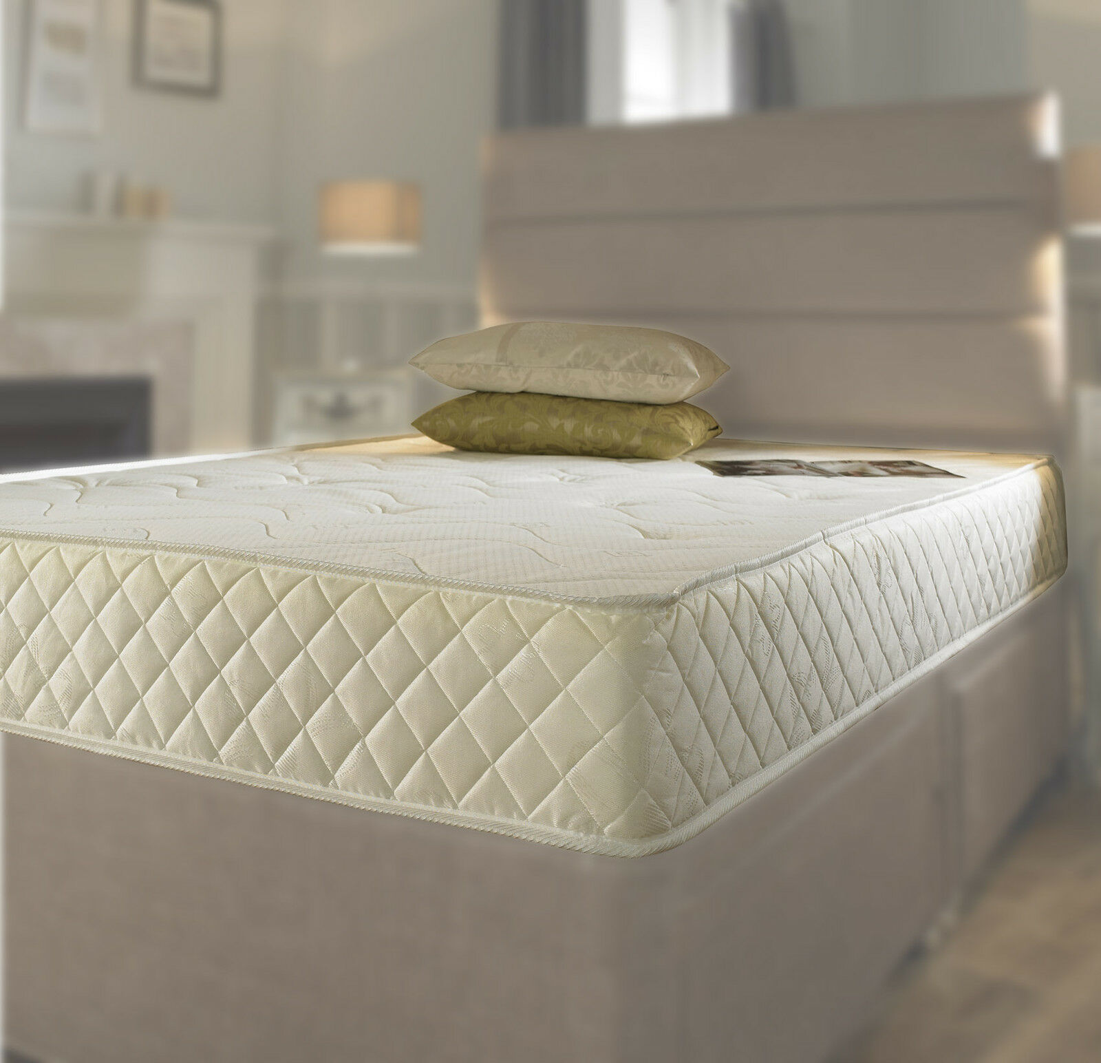Memory foam matress new quilted sprung mattress 3ft single 4ft6 double 5ft king Double mattress memory foam