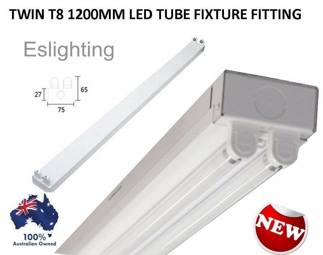 Twin T8 Led Tube Fixture 1200Mm 4Ft Fitting Batten