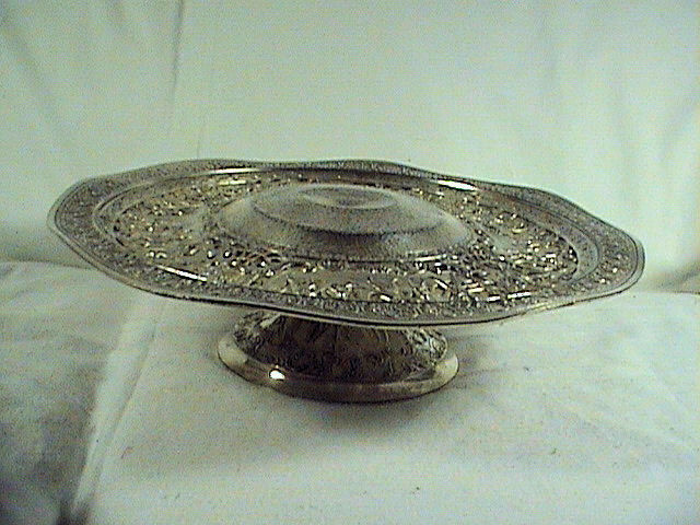 Derby sp company silver plated cake stand very ornate for Decor fusion interior design agency manchester m3