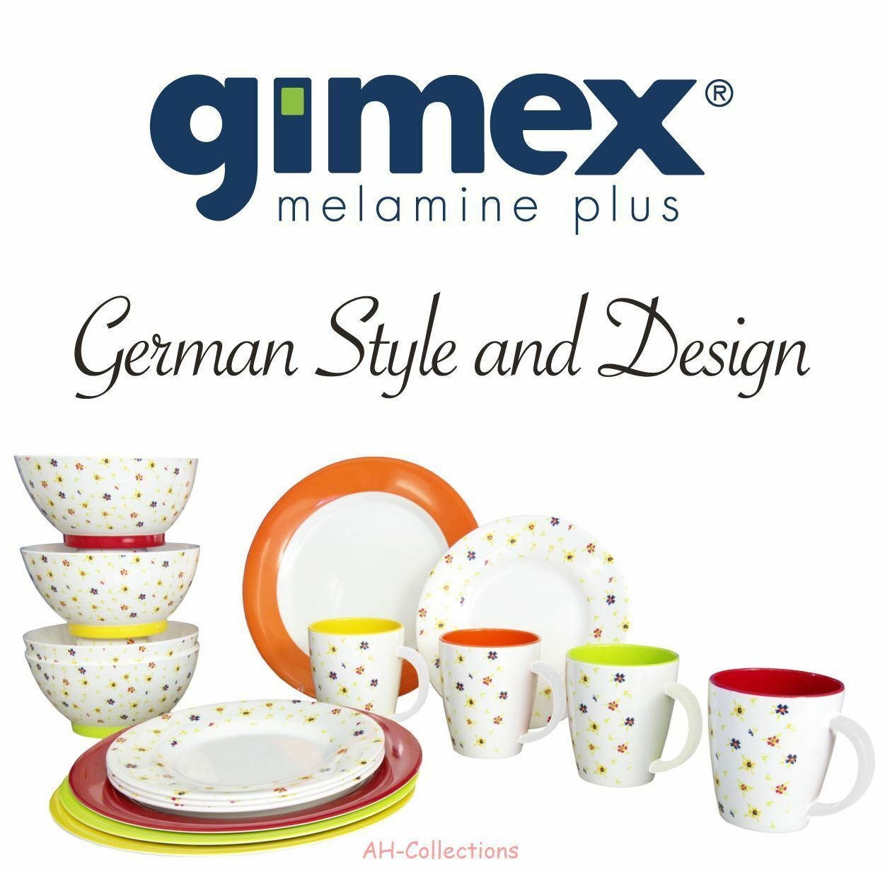 gimex melamin 16 tlg camping geschirr set rainbow flowers dinnerware eur 65 40 picclick de. Black Bedroom Furniture Sets. Home Design Ideas