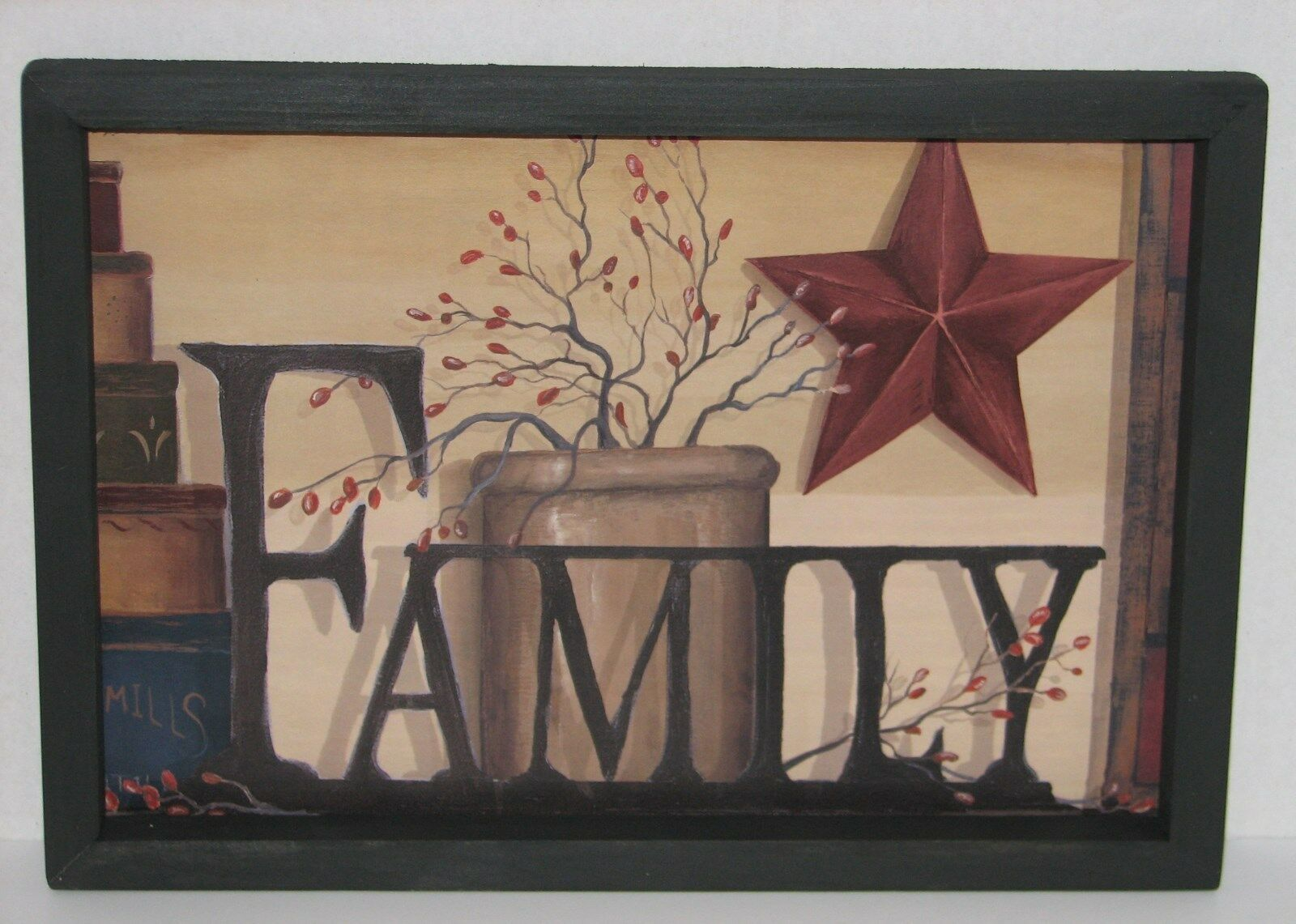 Primitive Country Family 9 X 13 Wall Decor Beautiful
