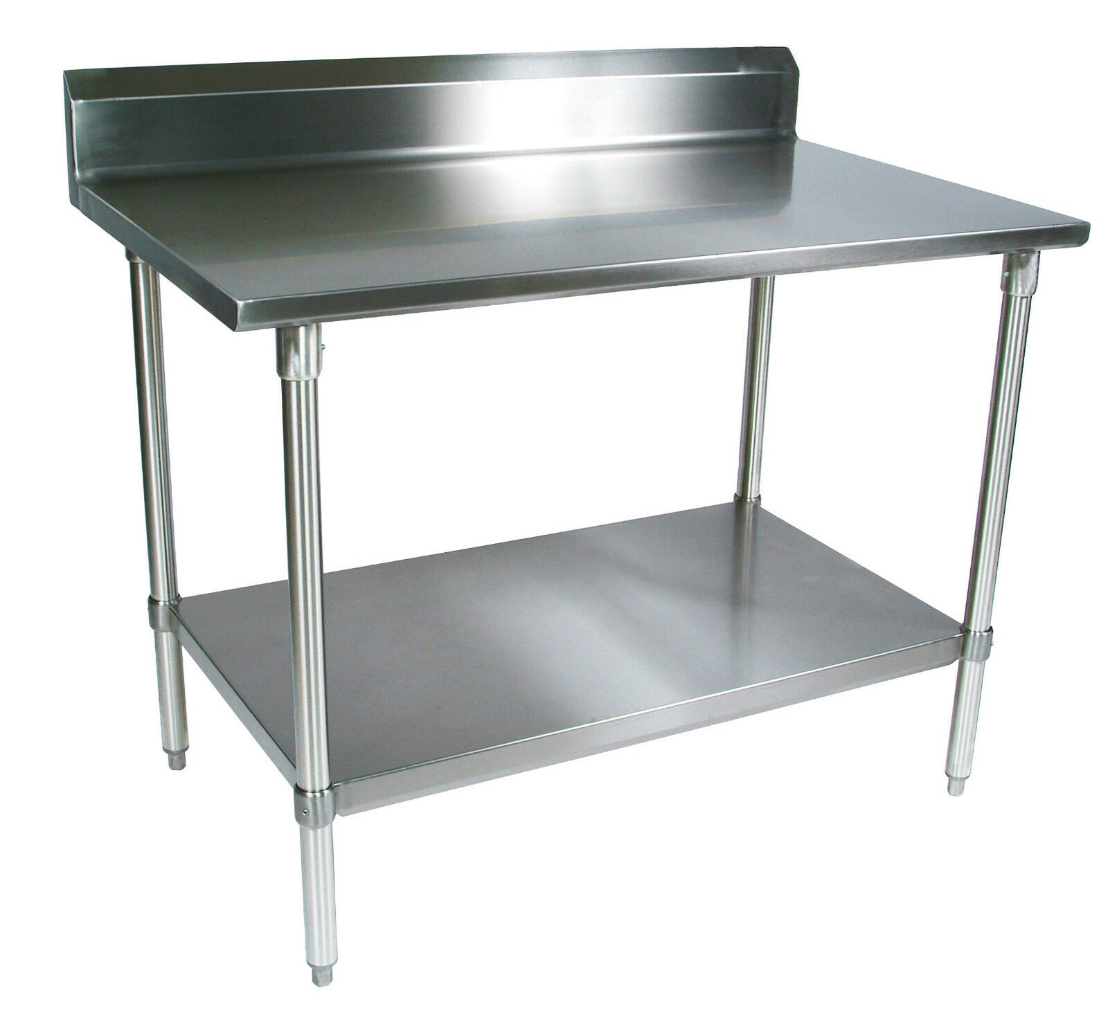 New commercial stainless steel work prep table 24 x 60 with 5 backsplash - Industrial kitchen table stainless steel ...