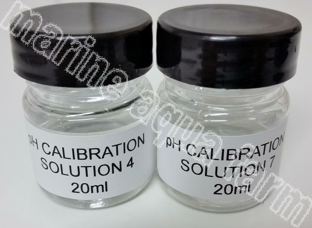 PH 4 & 7 CALIBRATION SOLUTION 20ml X 2, PH PROBE MARINE AQUARIUM REEF CORAL