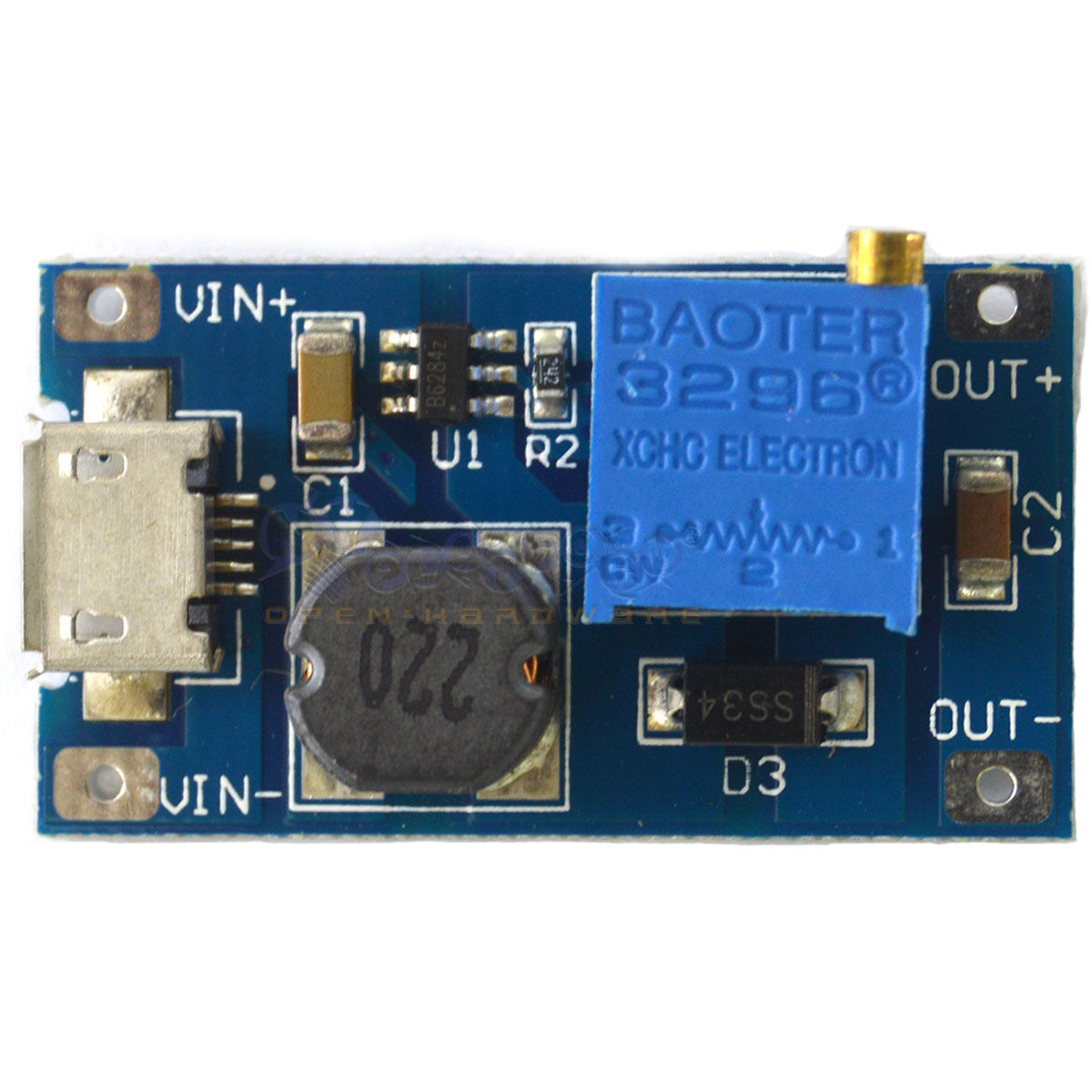 2a Booster Board Dc Step Up Module Input 2 24v To 5 9 12 28v Modul Micro Usb Mt3608 2v 1 Of 3free Shipping
