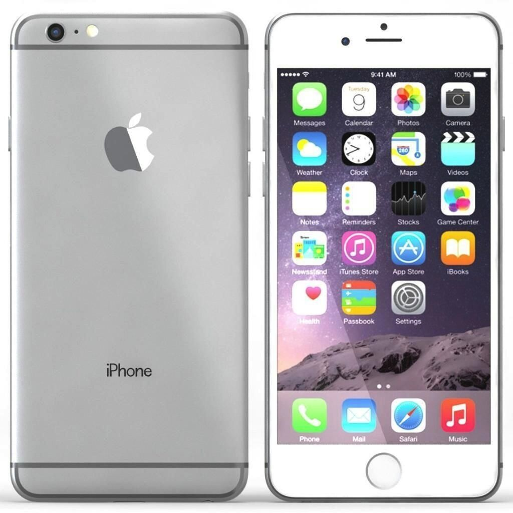 apple iphone 6 64gb silver unlocked grade a 12. Black Bedroom Furniture Sets. Home Design Ideas