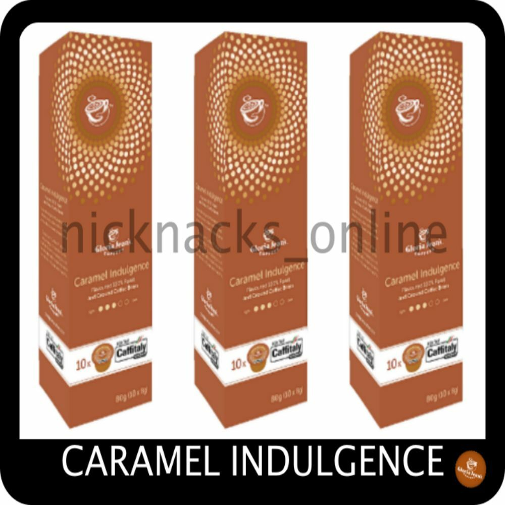 Gloria Jeans Coffee Capsules Caramel Indulgence 30 Pods for Caffitaly System