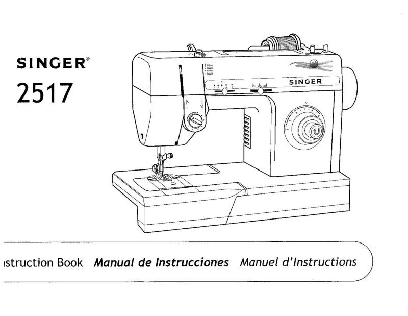 Singer 2517 Sewing Machine/Embroidery/Serger Owners Manual • $16.99