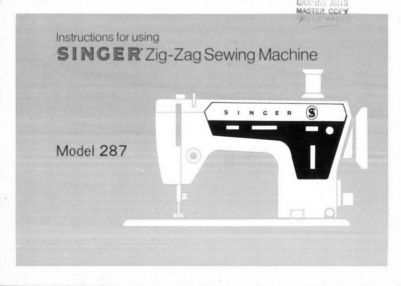 SINGER 40 SEWING MachineEmbroiderySerger Owners Manual Reprint Magnificent Singer Sewing Machine Model 7422 Manual
