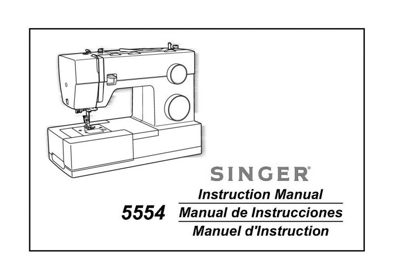 SINGER 40 SEWING MachineEmbroiderySerger Owners Manual Reprint New Singer 5554 Heavy Duty Sewing Machine