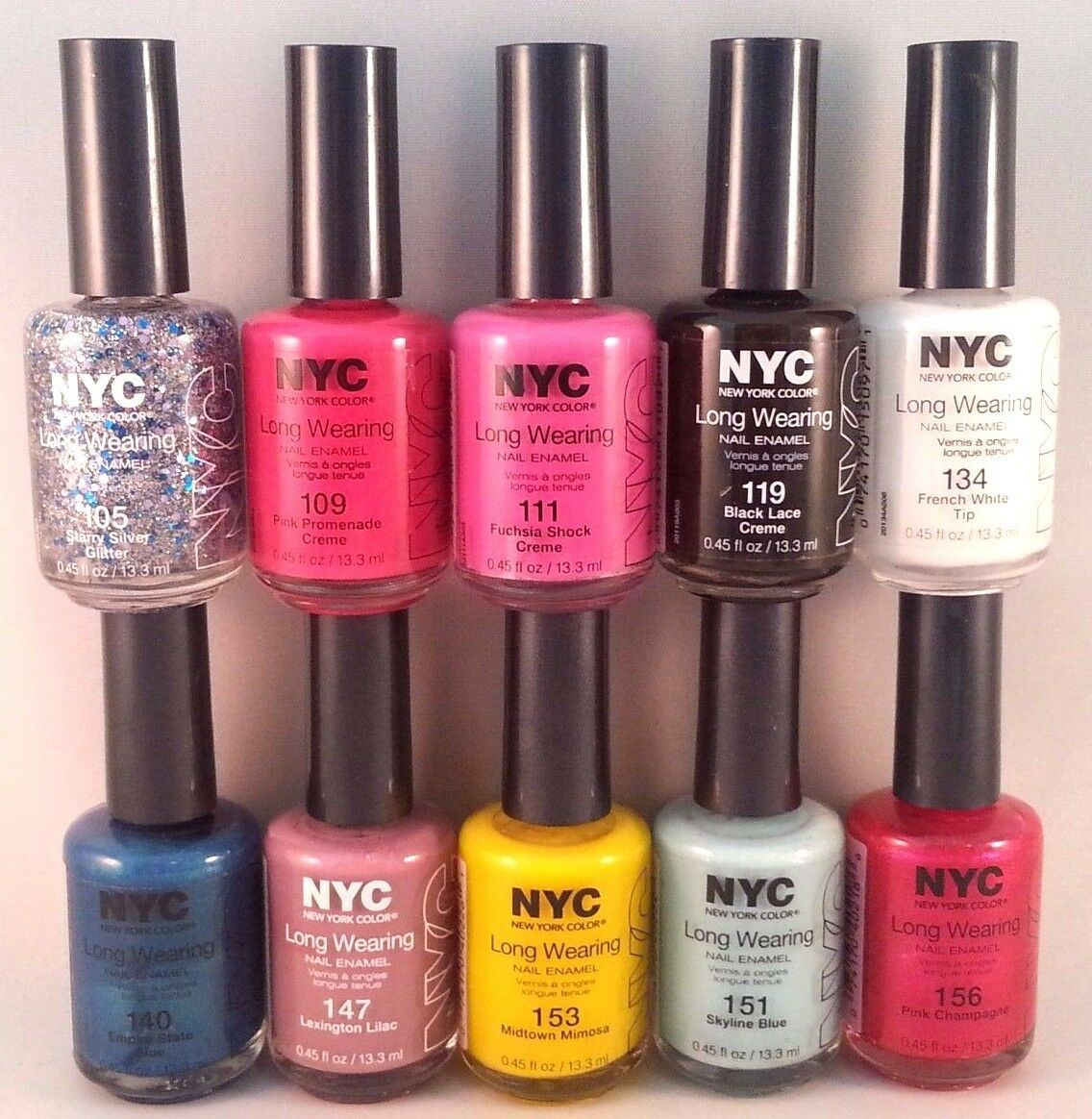 Nyc New York Color Long Wearing Nail Enamel 2 Get 1 Free Add 3