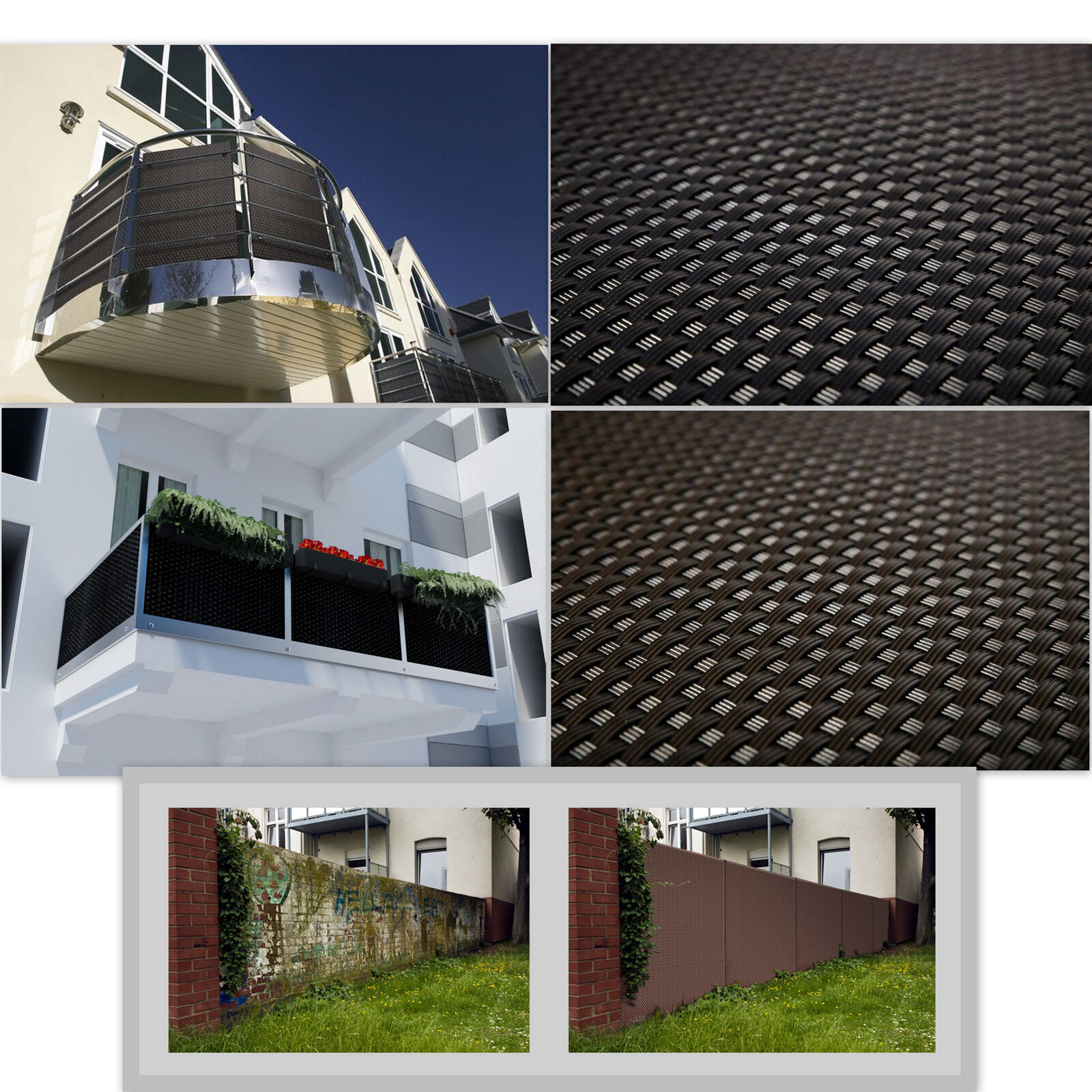Privacy garden fence panel cover balcony shade mat screen for Balcony covers for privacy