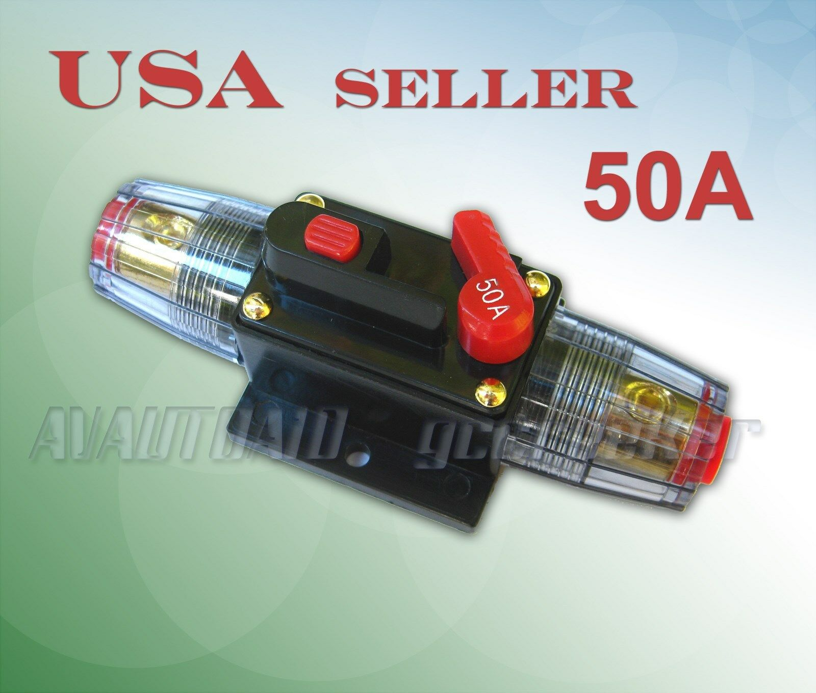 50a car audio inline circuit breaker fuse for 12v system protection rh picclick com