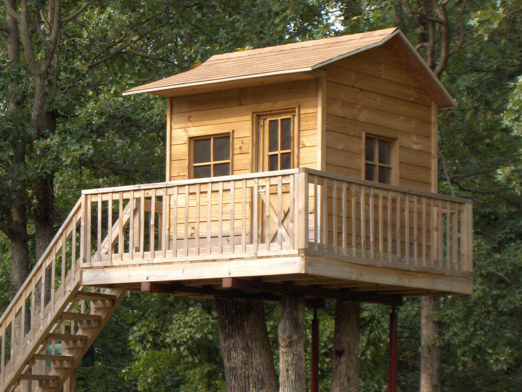 Childrens Playhouse Treehouse Plans Blueprints For Building Your Own Playhouse