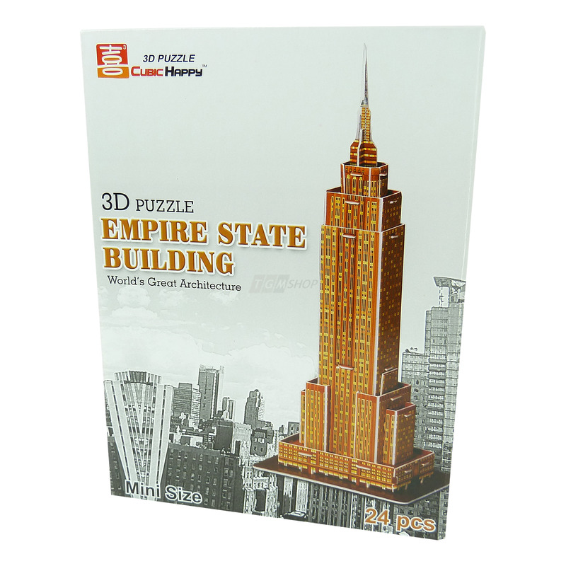 cubichappy 3d puzzle empire state building mini puzzel bauwerk spielzeug chf. Black Bedroom Furniture Sets. Home Design Ideas