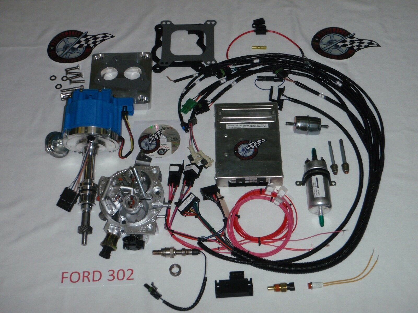 Ford Fuel Injection System Complete Tbi For Stock Small Block 302 Wiring Harness Jeep 1 Of 9free Shipping