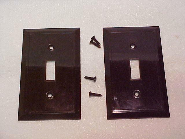 2 Nos Vintage Brown Plastic Switch Plate Covers Toggle Light 1 Of 1free Shipping See More