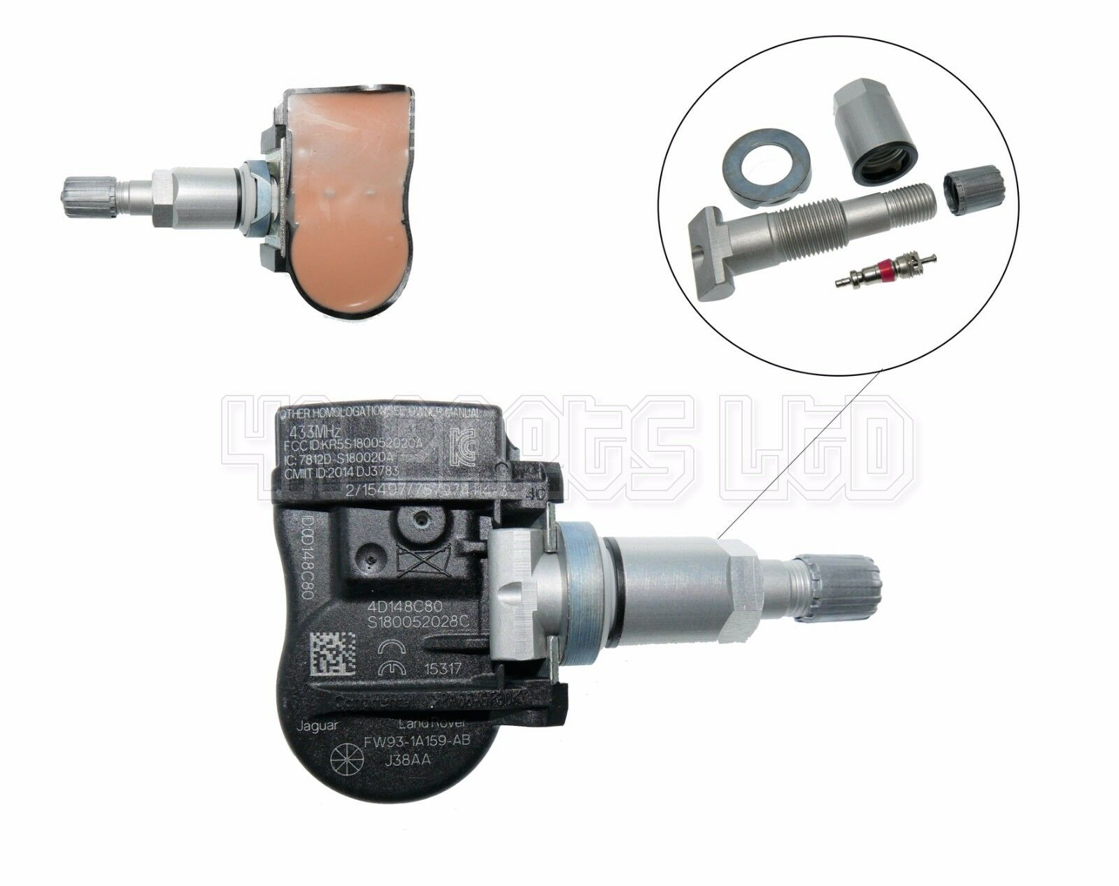 1x peugeot 407 207 307 208 508 tyre pressure sensor tpms 433mhz 9681102280 chf. Black Bedroom Furniture Sets. Home Design Ideas