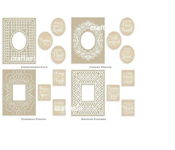 ANNA GRIFFIN® MIX & Match Embroidered Frames Embossing Folders ...