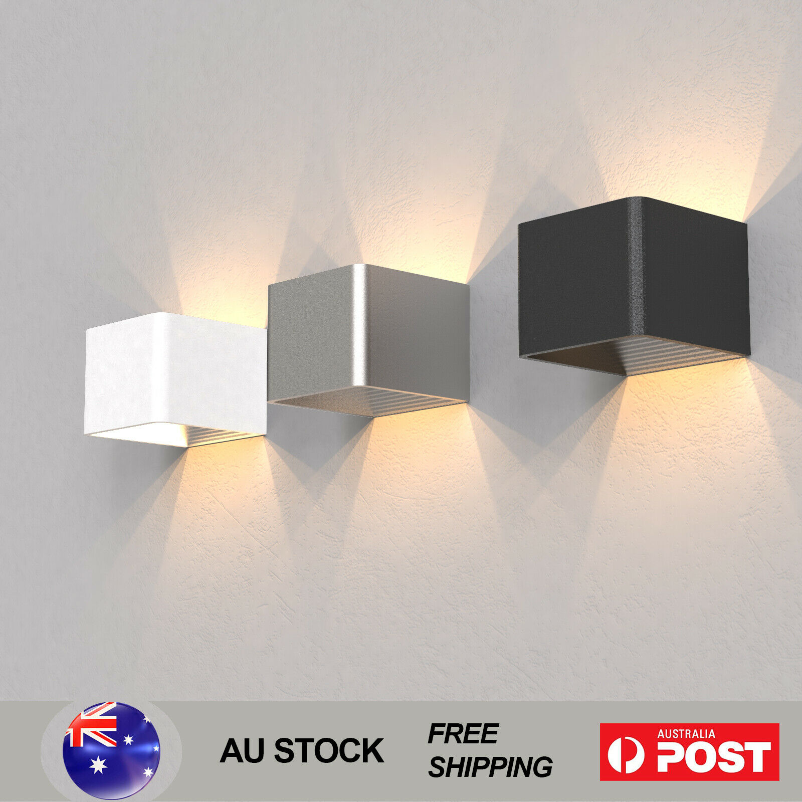 Led cubic wall light beside modern indoors lights sconce for Modern sconce light fixtures