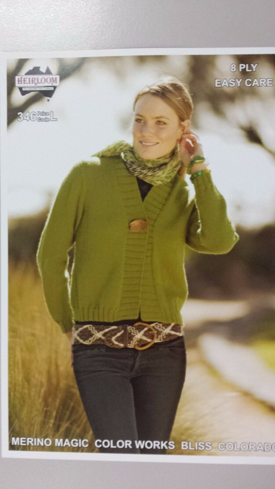 Heirloom Knitting Pattern #346 to Knit Ladies Cardigan in 8 Ply   AUD 6.15 - ...