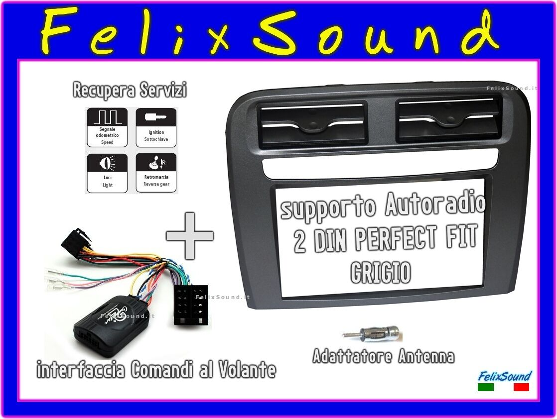 fiat punto radio html with Adattatore Autoradio 2 Din Grigio Per Fiat Grande 222050067131 on 82075 Problem Beim Radioeinbau Jvc besides 165278 Abs Wiring Help Electrical Experts furthermore Peugeot 206 Trailing Arm OE 5175AW 5175CJ 5175V0 Left With ABS also Schema Fili Stereo Pacr06 T8063 moreover Citroen C2 C3 C4 C5 C6 C8 Cd Stereo Wiring Harness Aerial Adaptor And Keys.