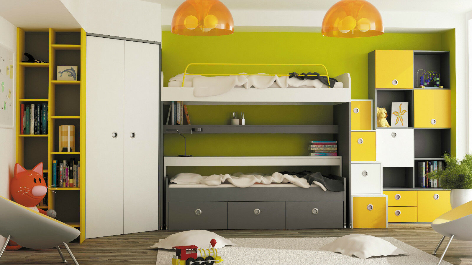 jugendzimmer city mit bett regal kleiderschrank kinderzimmer hochbett eur picclick de. Black Bedroom Furniture Sets. Home Design Ideas