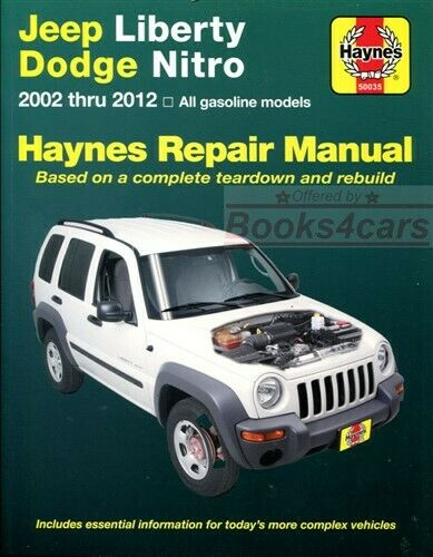 Shop Manual Service Repair Liberty Jeep Book Haynes Chilton 1 of 1FREE  Shipping ...
