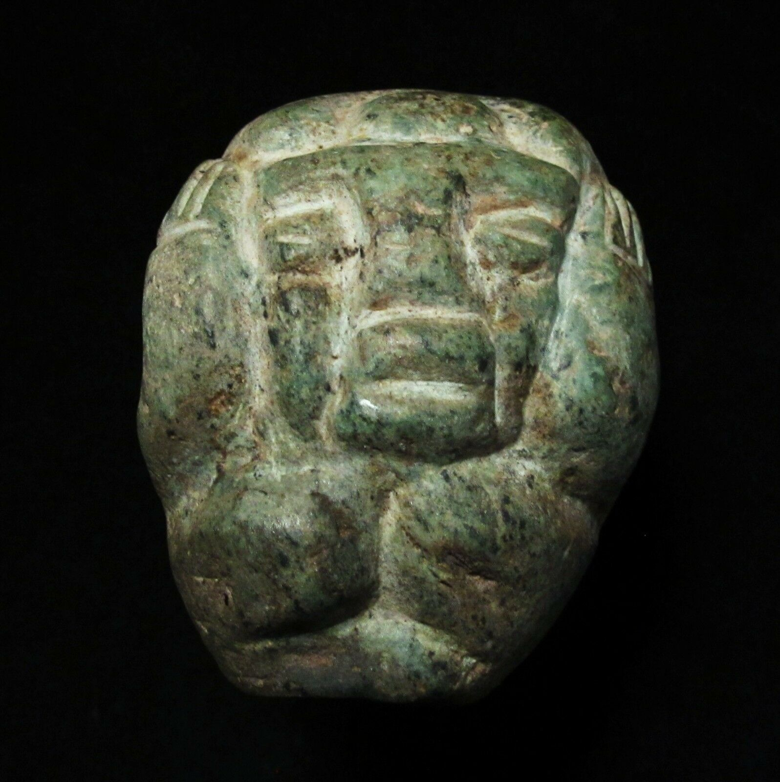 Ancient Pre-Columbian Mayan Carved Stone Idol  ~ From a private collection