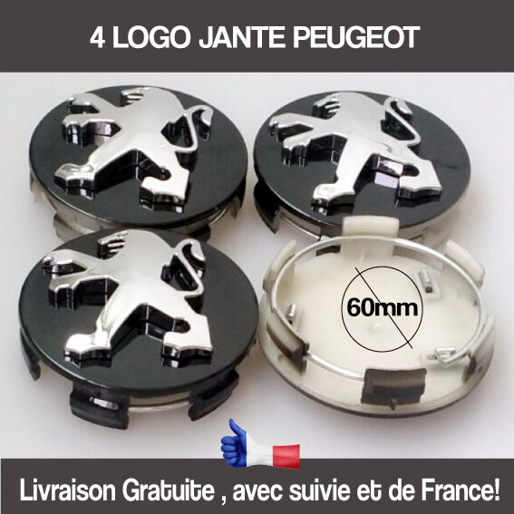 logo jante peugeot 60mm cache moyeu noir insigne 106 107 206 207 307 308 406 407 eur 20 95. Black Bedroom Furniture Sets. Home Design Ideas
