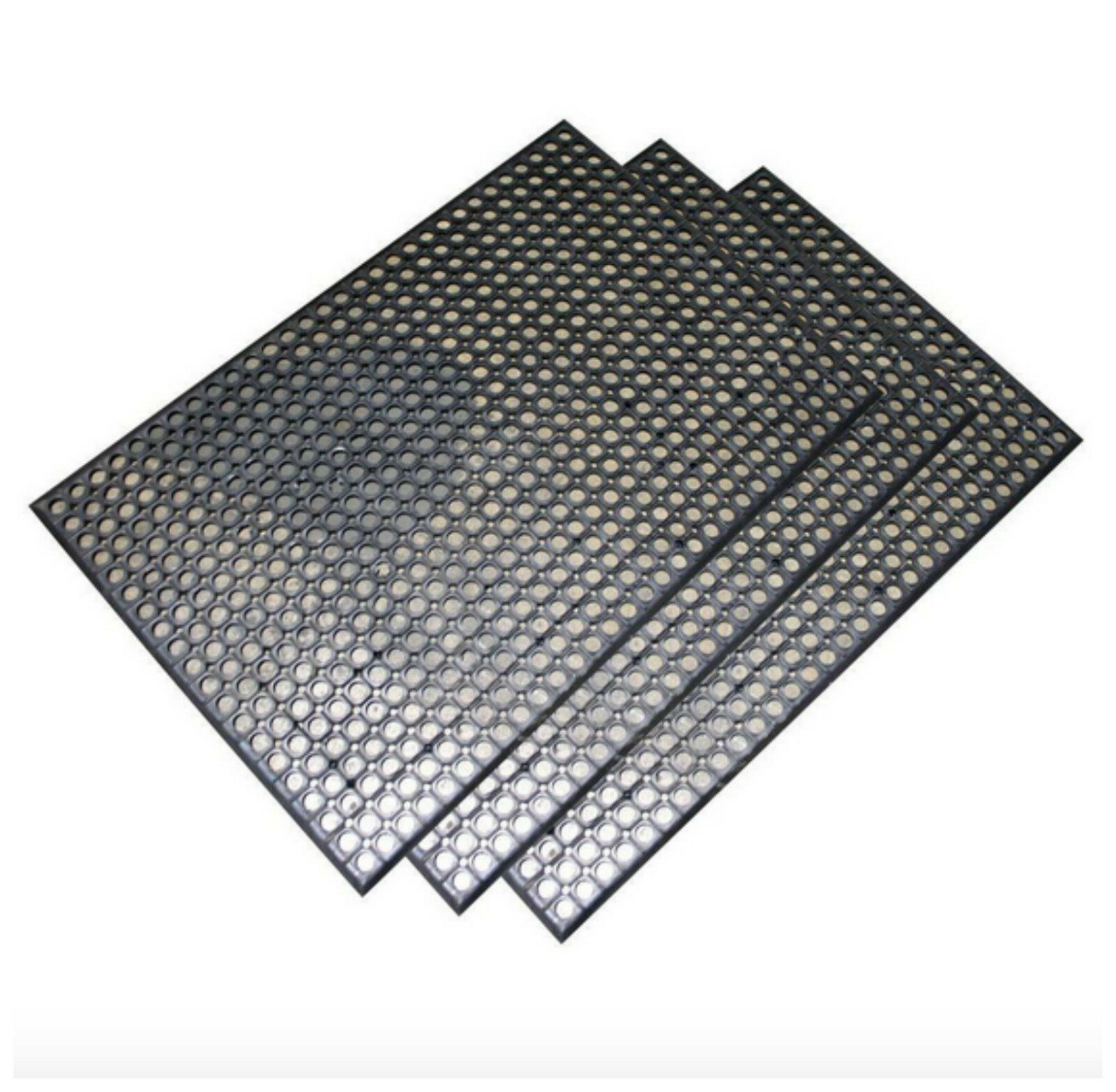 RUBBER ANTI FATIGUE Mat Kitchen Floor Commercial Industrial Safety ...