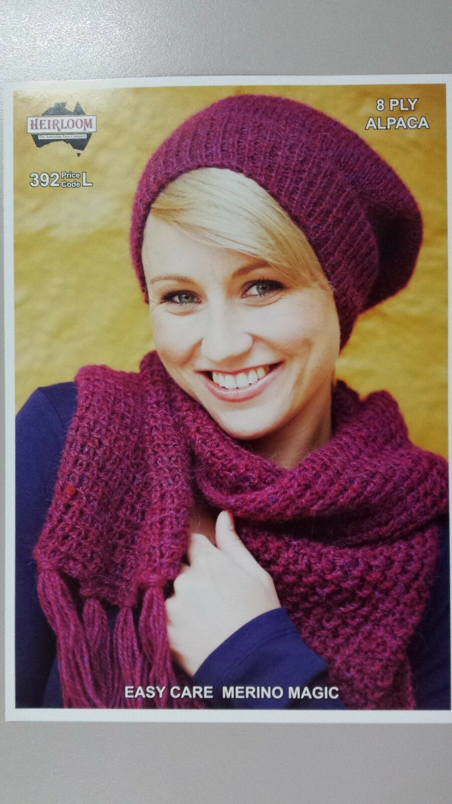 Heirloom Knitting Pattern #392 to knit Hat & Scarf in 8 Ply   AUD 6.15 - ...