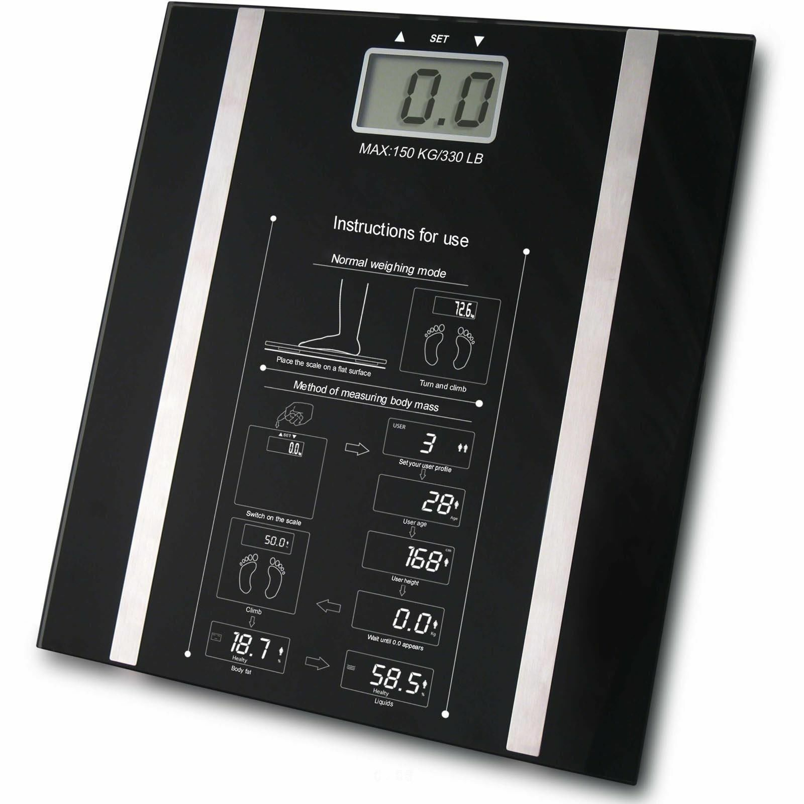 New Digital Body Fat Analyser Weight Loss Scale Bmi Healthy 150kg
