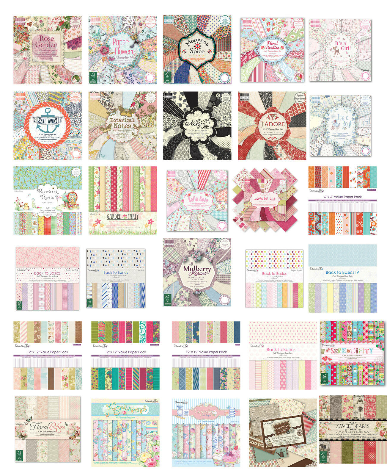 Scrapbook paper pads - Full Paper Pads Cardmaking Scrapbooking First Edition