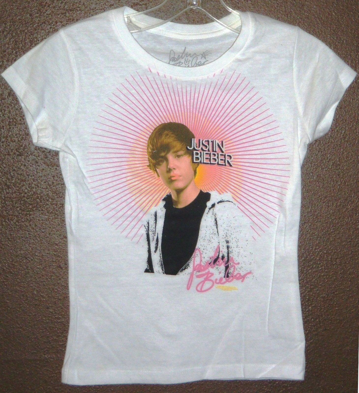new justin bieber sunburst portrait kids girls. Black Bedroom Furniture Sets. Home Design Ideas