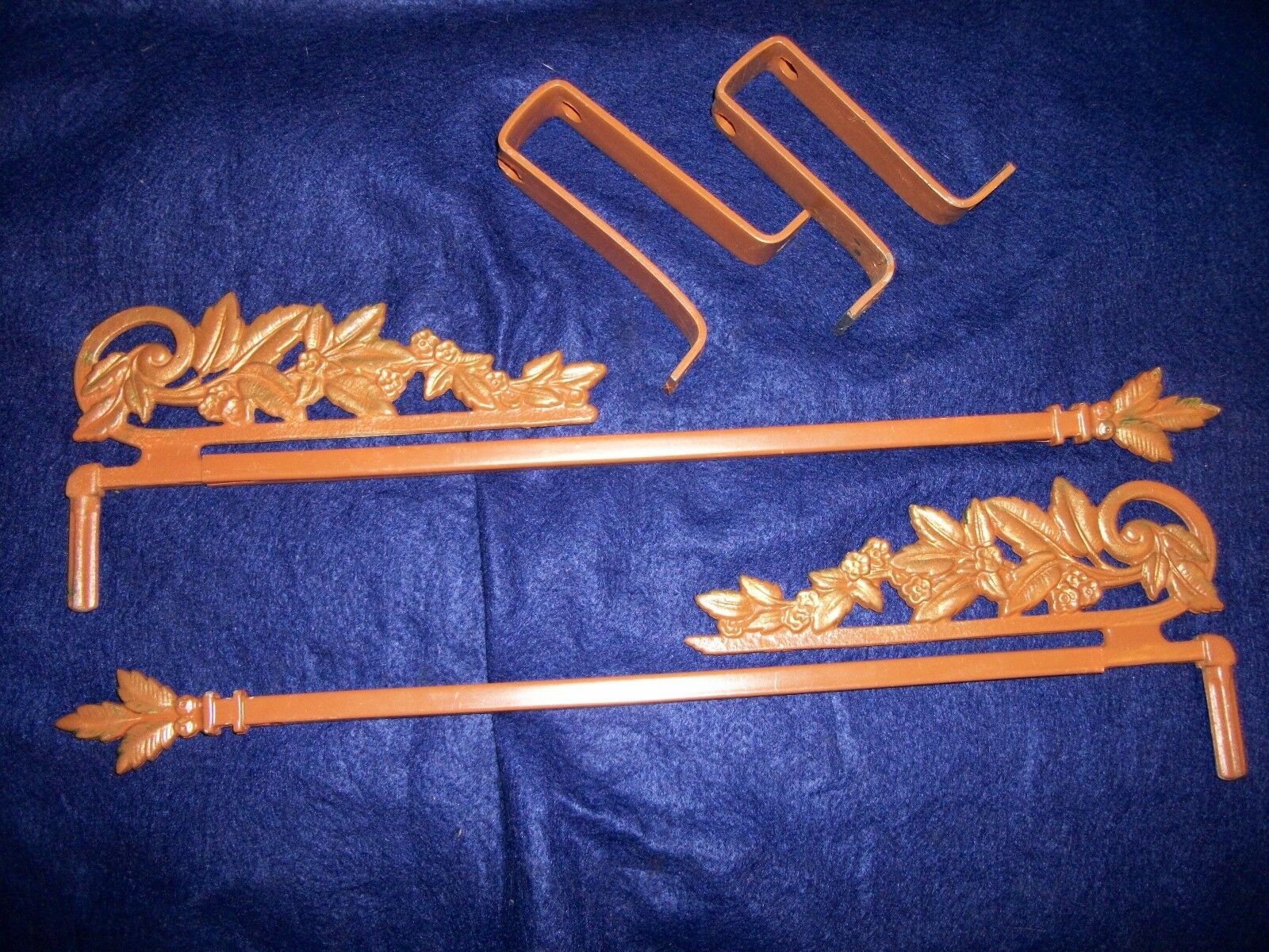 Vintage -Old- Antique -Cast Swing A Way Drapery -Curtain Rods -Very Decorative-