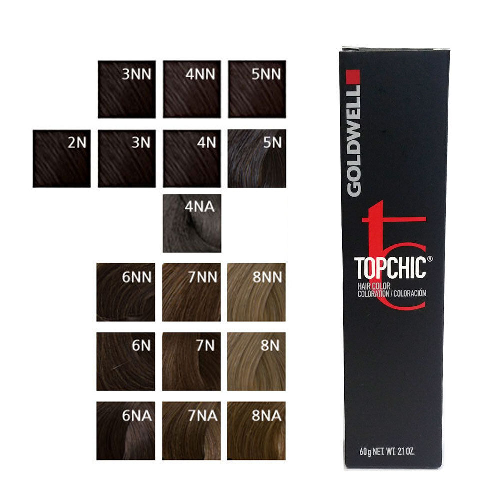 Goldwell Topchic Hair Color Coloration Can 6nn Dark Blonde