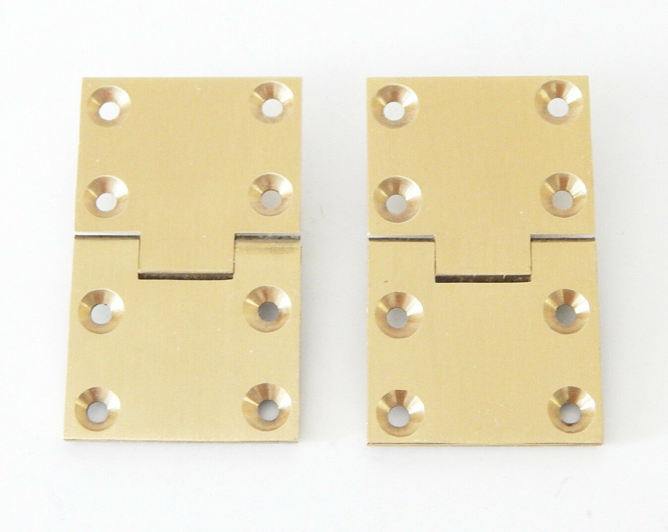 Butler Tray Hinge Square Edge Brass - Pair