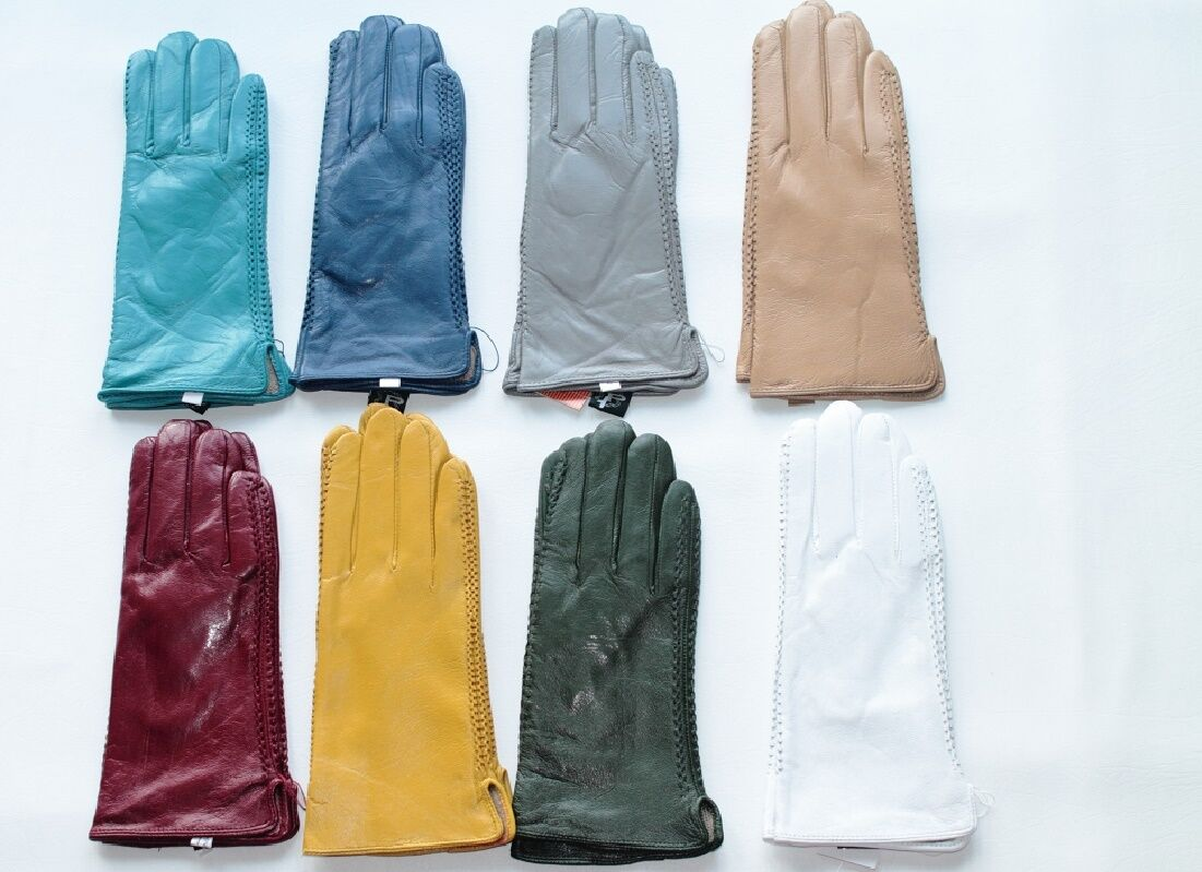 Ladies coloured leather gloves - Ladies Coloured Genuine Leather Gloves Ladies Coloured Genuine Leather Gloves 1 Of 1 See More