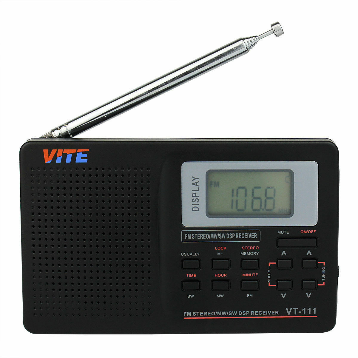 world band receiver portable digital radio fm sw mw. Black Bedroom Furniture Sets. Home Design Ideas