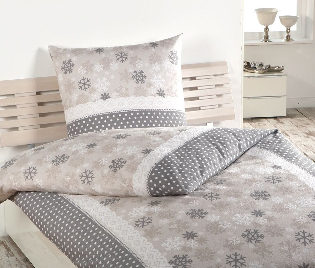 bettw sche frottee weichfrottier 135 cm x 200 cm beige grau dyckhoff spitze eur 39 90. Black Bedroom Furniture Sets. Home Design Ideas