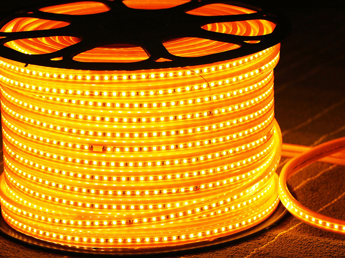 1 50m highpower led strip 120 leds 800lm m warmweiss. Black Bedroom Furniture Sets. Home Design Ideas