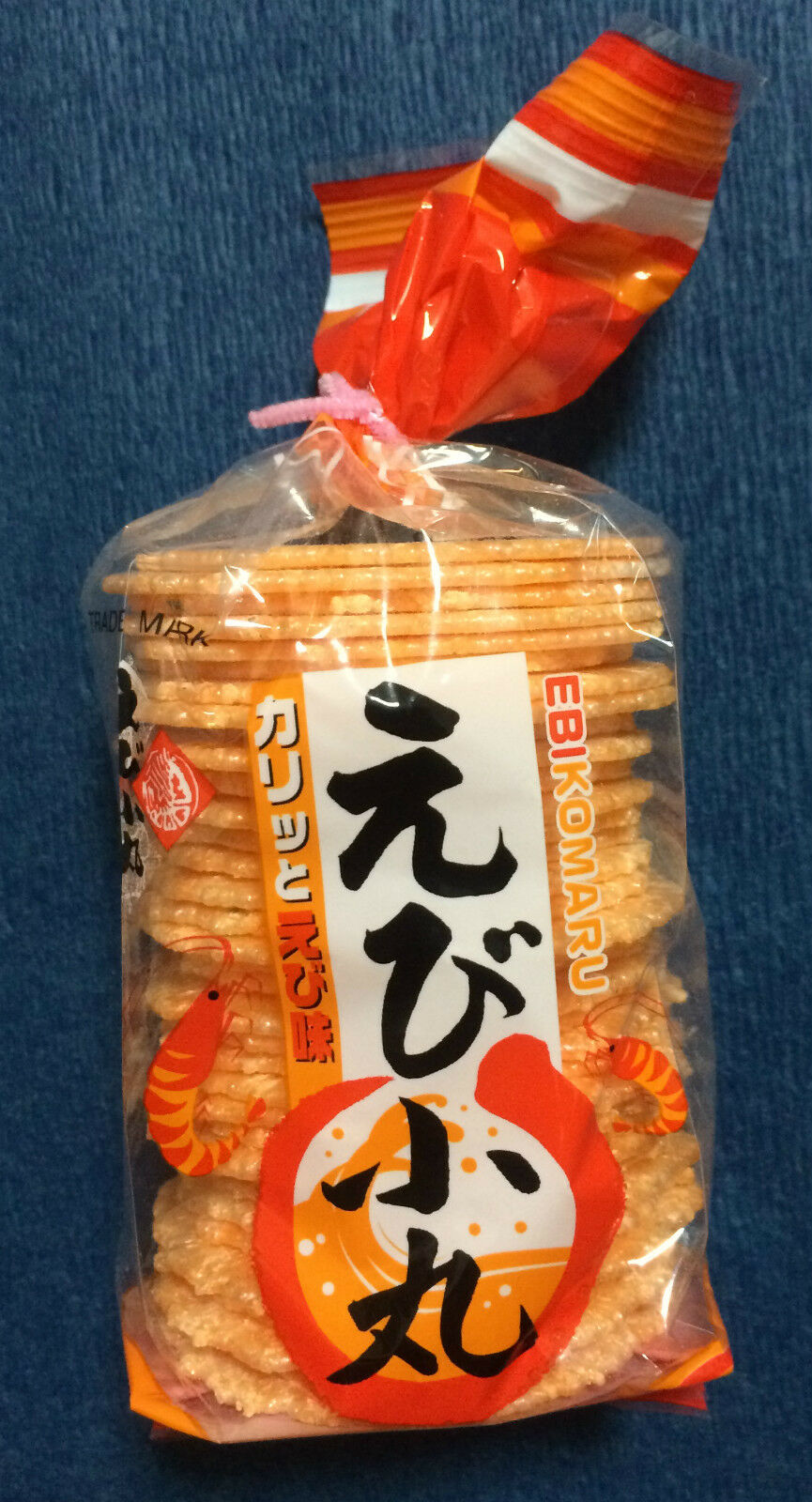 1 x Bag of Prawn Crackers - Ebi Komaru - Japanese Snacks / Chips