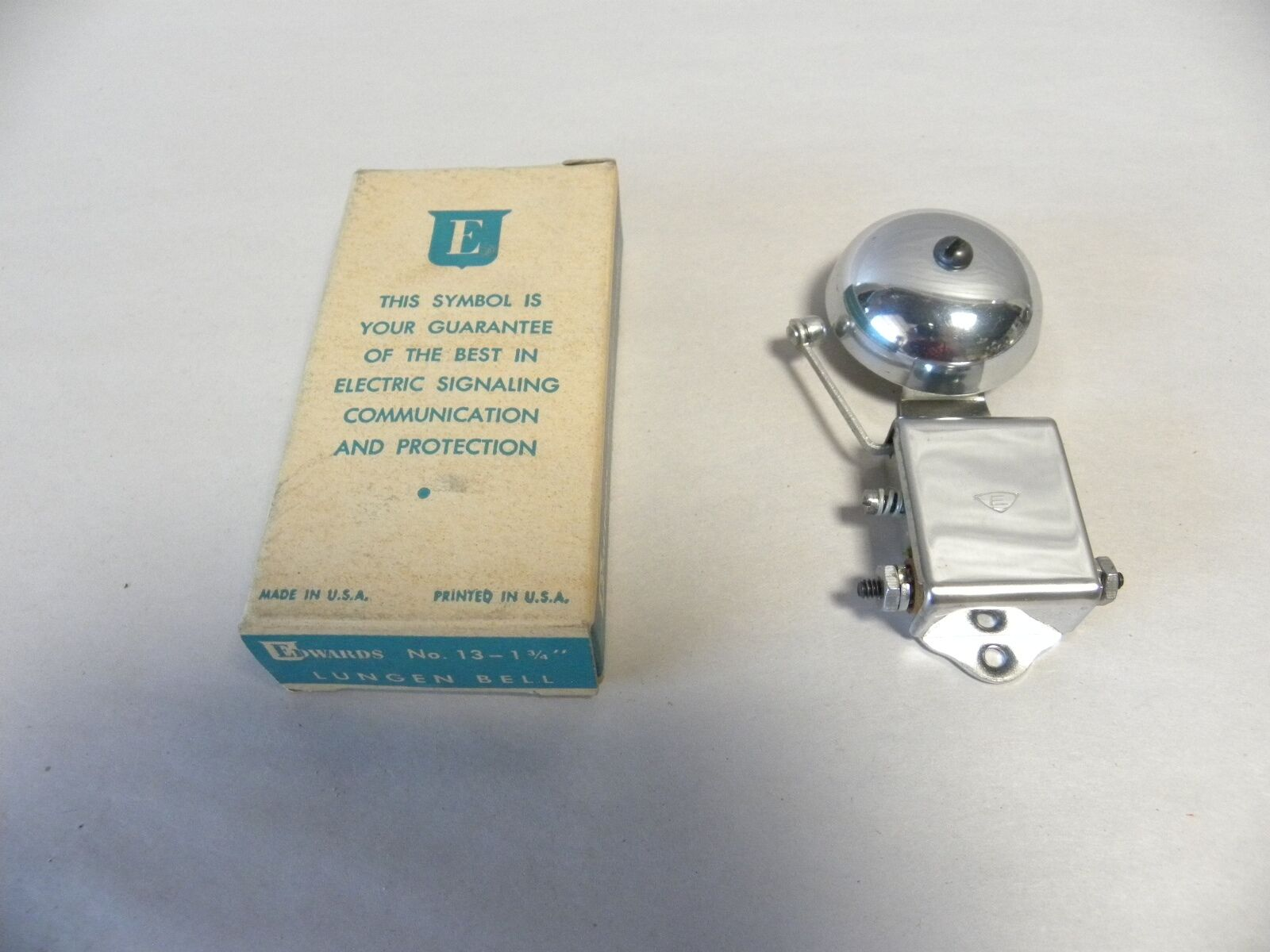 NOS Vintage Edwards Signaling Co Lungen Signal Alarm Bell 1 3/4 Inch No. 13 (A5)