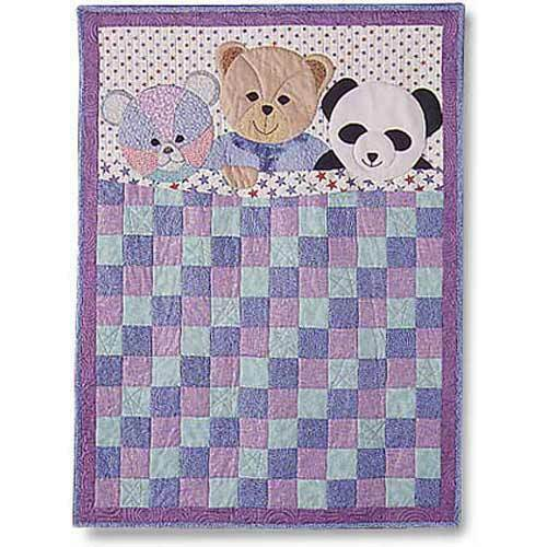My three bears baby quilt quilting pattern from garden for Garden trellis designs quilt patterns