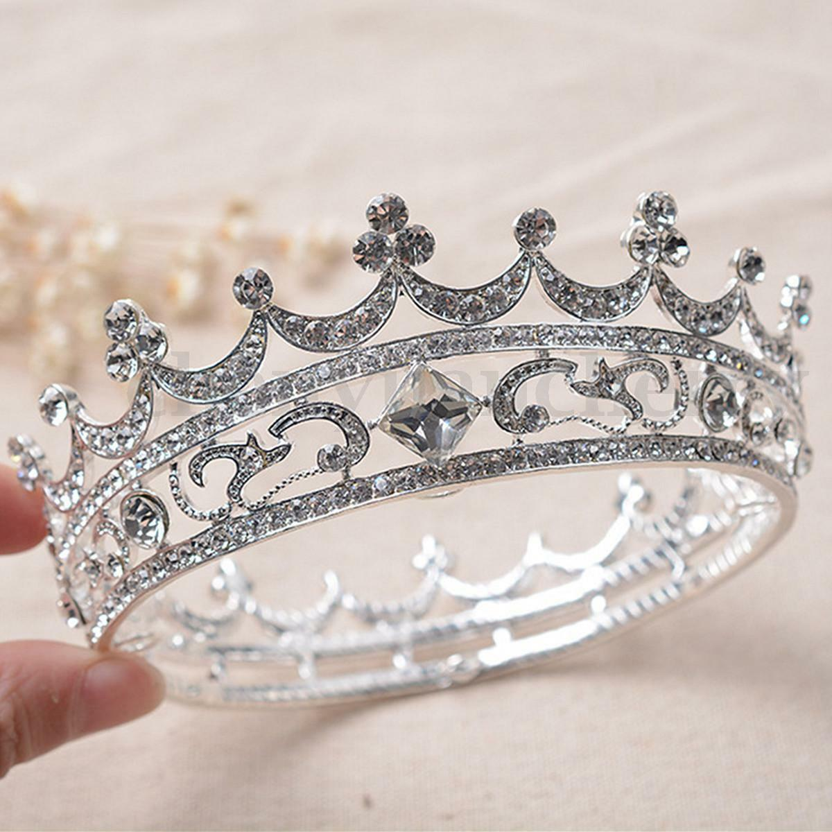 Queen Clear Austrian Rhinestone Crystal Tiara Crown Bridal Pageant Prom Party