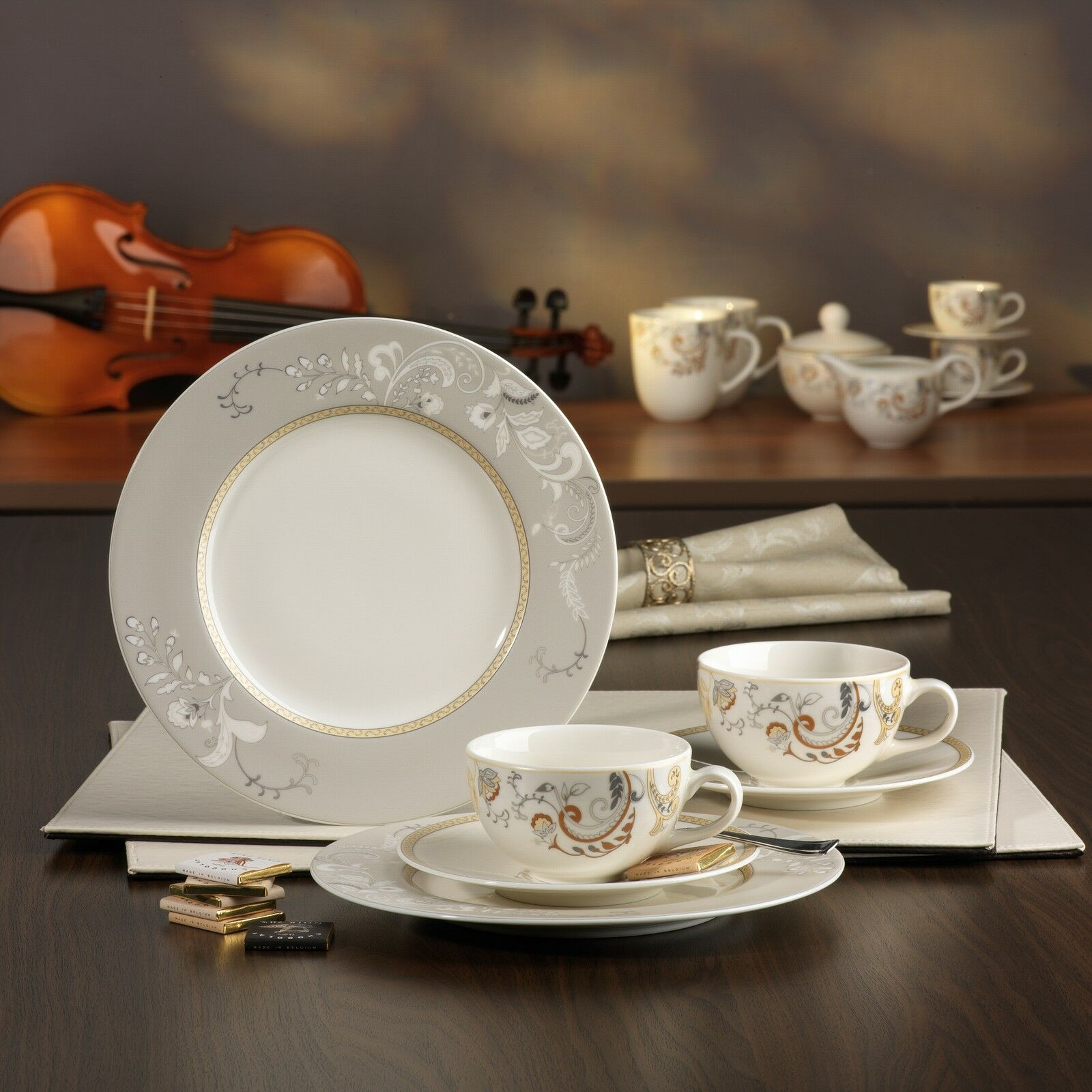 palacio kaffeeservice 18 teilig new bone china porzellan. Black Bedroom Furniture Sets. Home Design Ideas