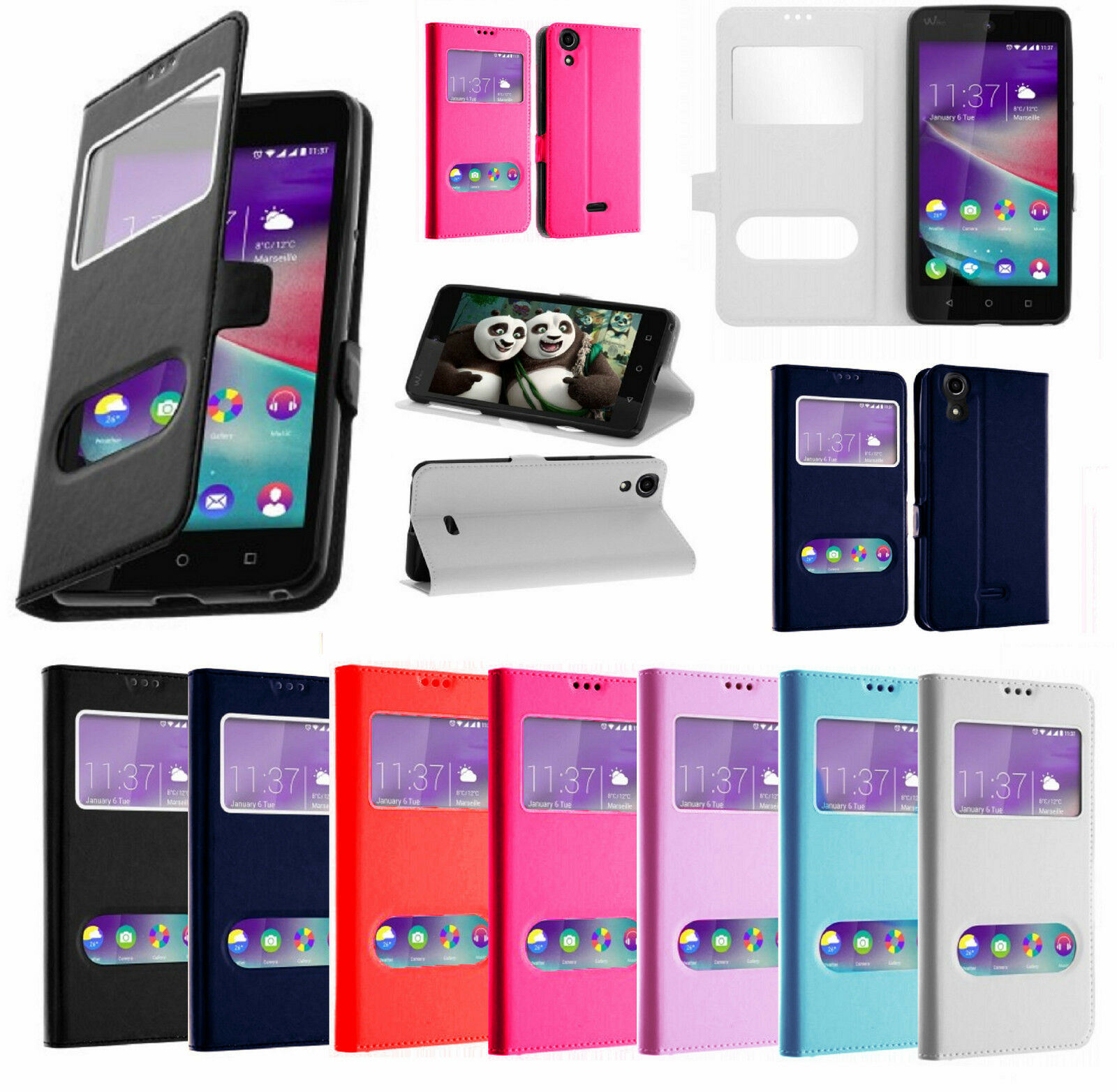 tui wiko tommy ou tommy 2 coque flip cover double fen tres pour wiko tommy eur 1 00. Black Bedroom Furniture Sets. Home Design Ideas