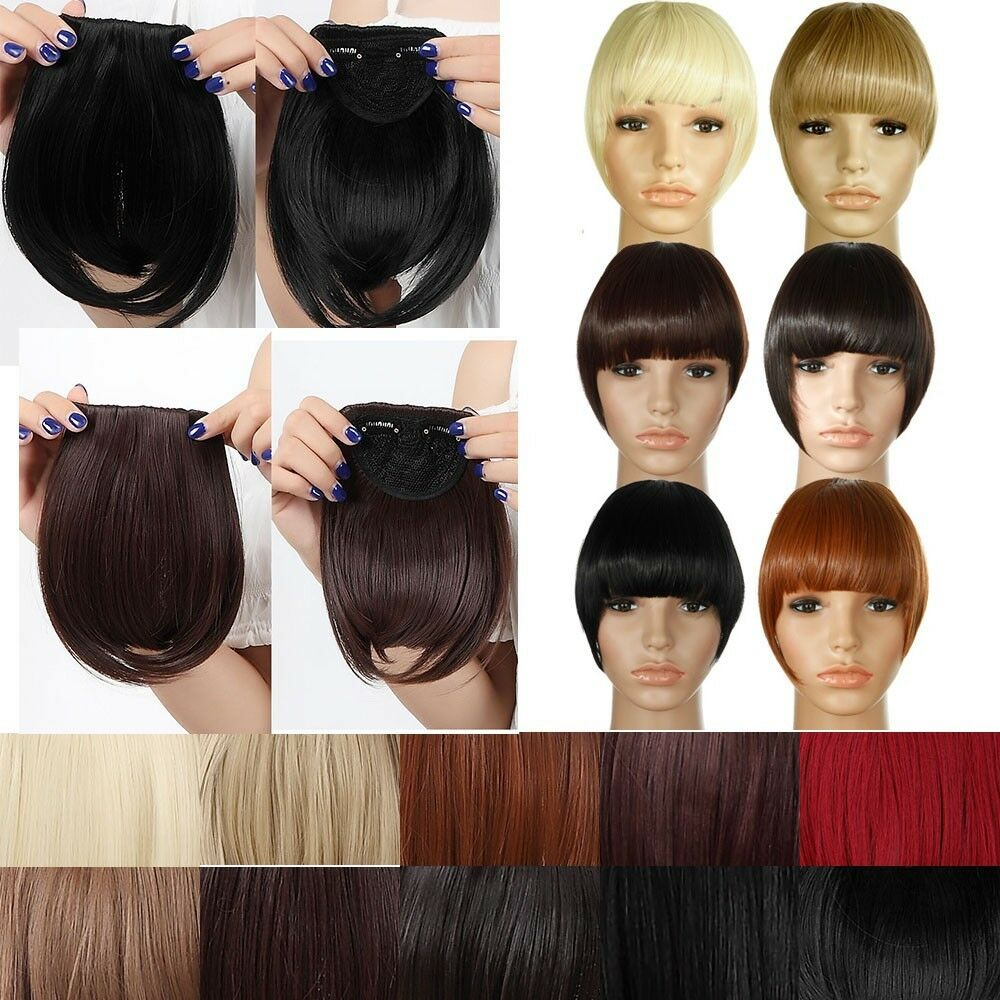 Real Natural Hair Extension Clip In Front Hair Bangs Fringe As Remy