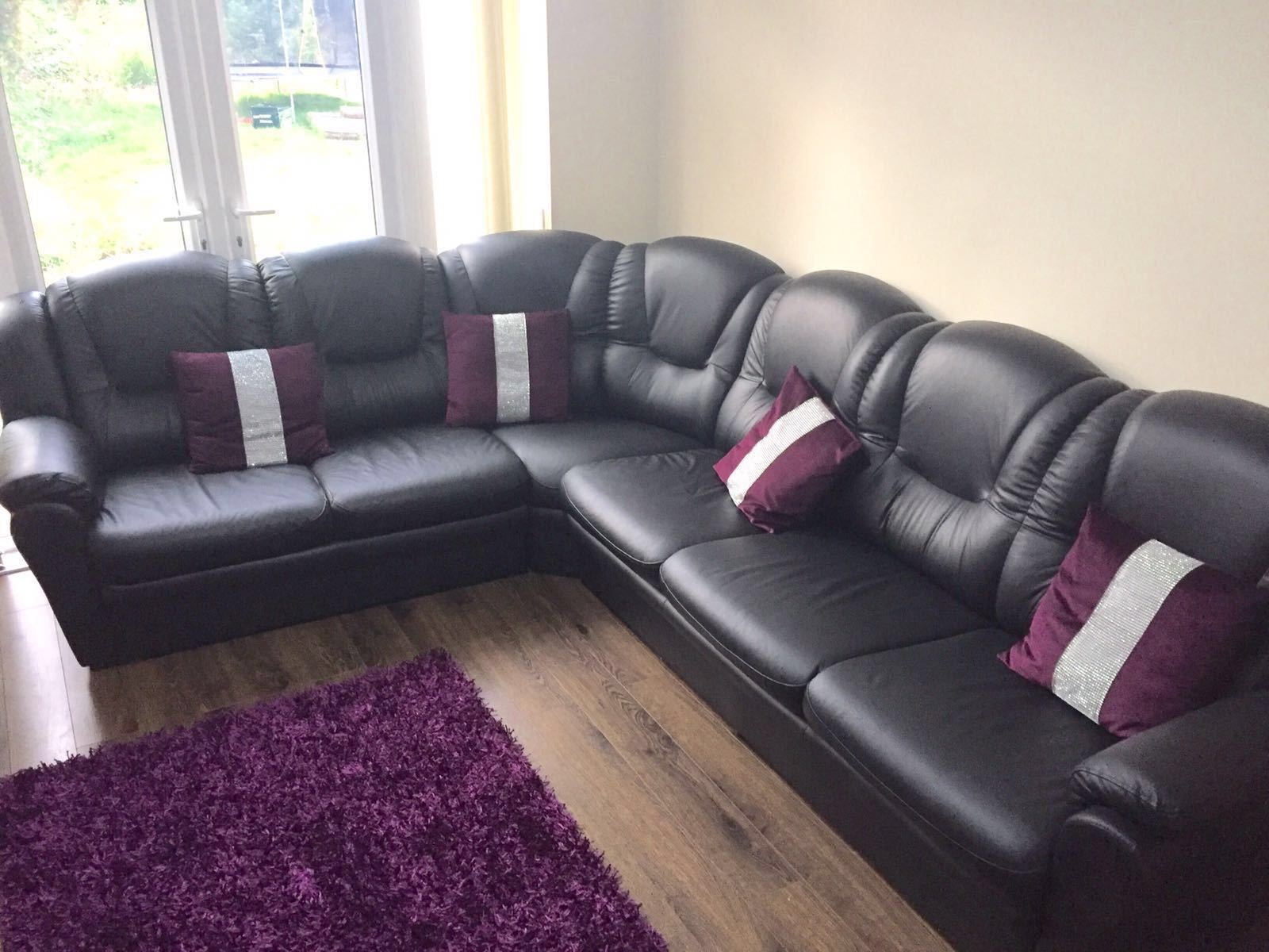 Brand new luxury holly leather big 6 seater 2c3 corner for Leather sofa 7 seater